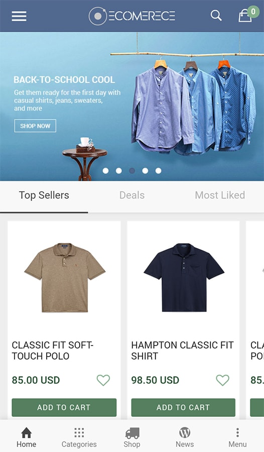 Ionic eCommerce app template