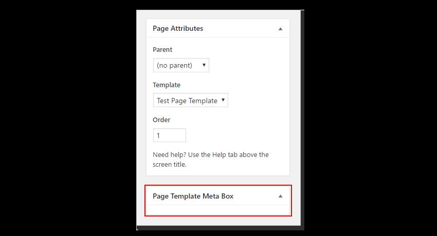 A new page meta box