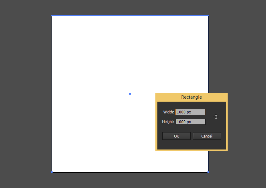Create a 1000 x 1000 rectangle