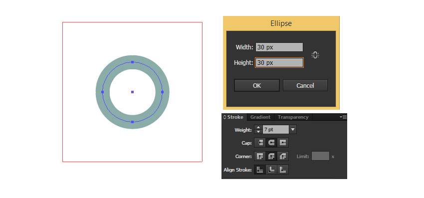 Create an ellipce
