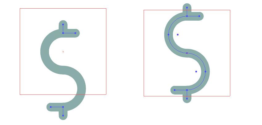 Build a dollar symbol