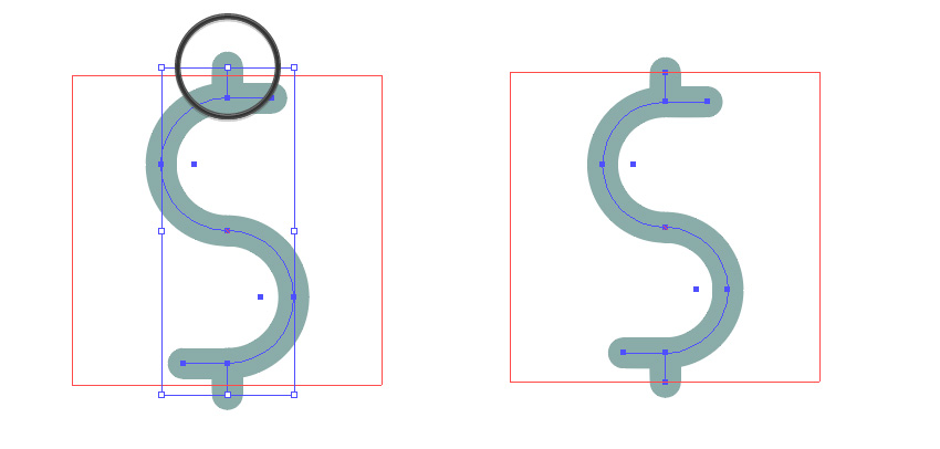 Scale the dollar symbol