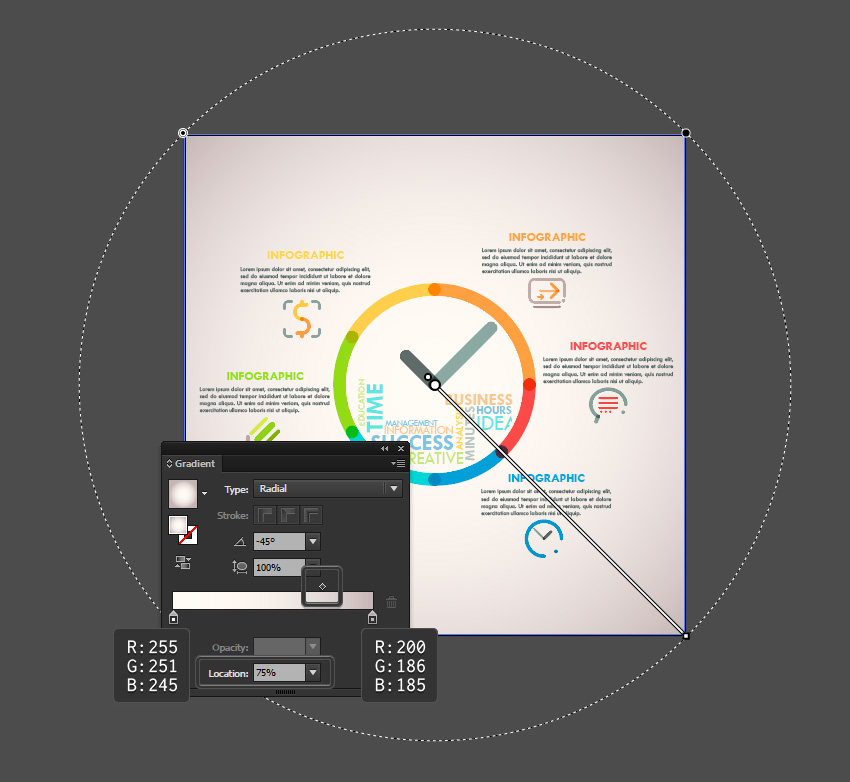 How to Create a Line Clock Infographic in Adobe Illustrator