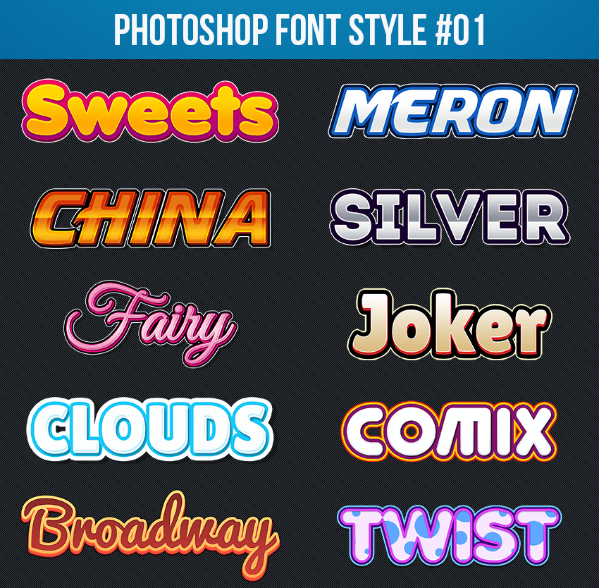 Photoshop Text Styles 01