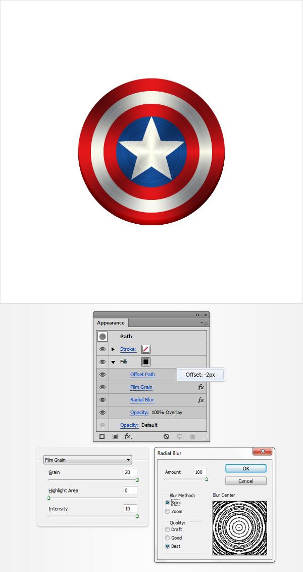 Crie o cone do escudo do capito amrica no adobe illustrator passo 3 toneelgroepblik Image collections
