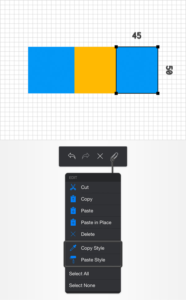 create guide shapes