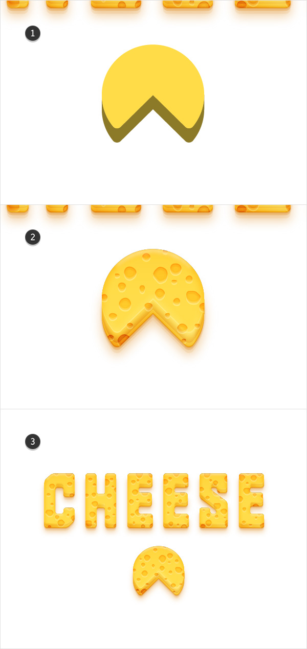 create cheese wedge