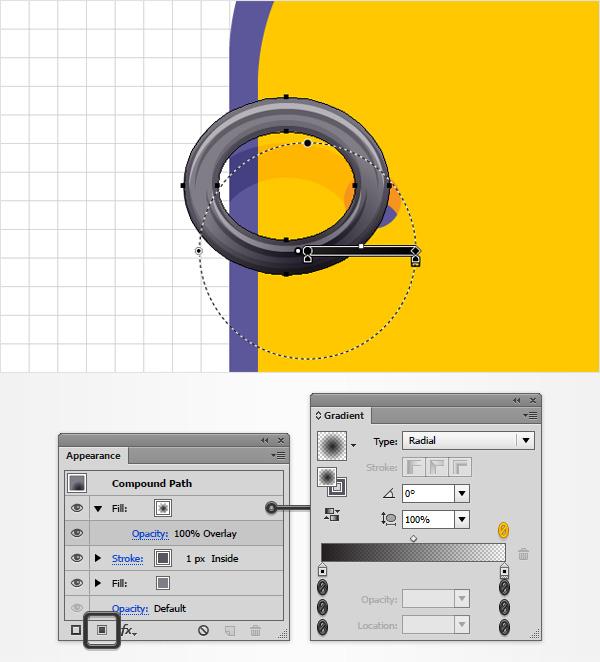 grey circle gradient