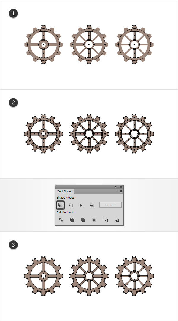 main gear shapes