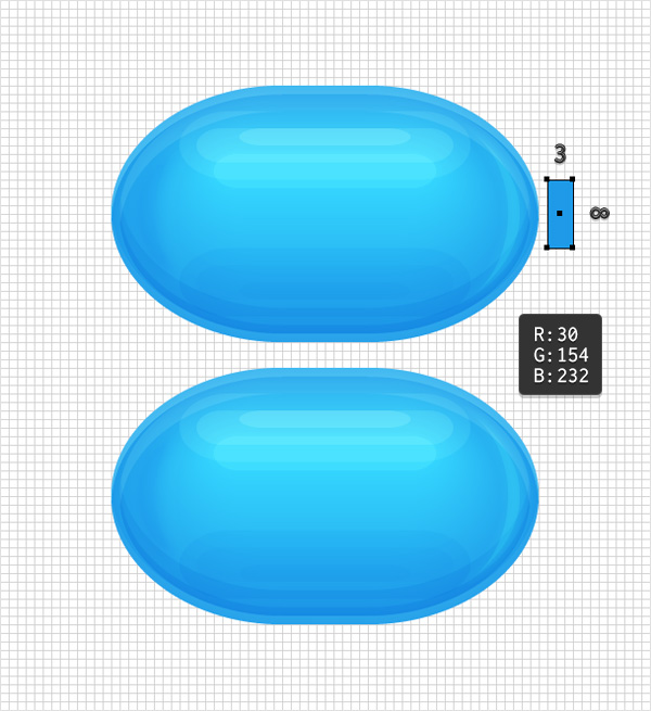 tiny blue rectangle