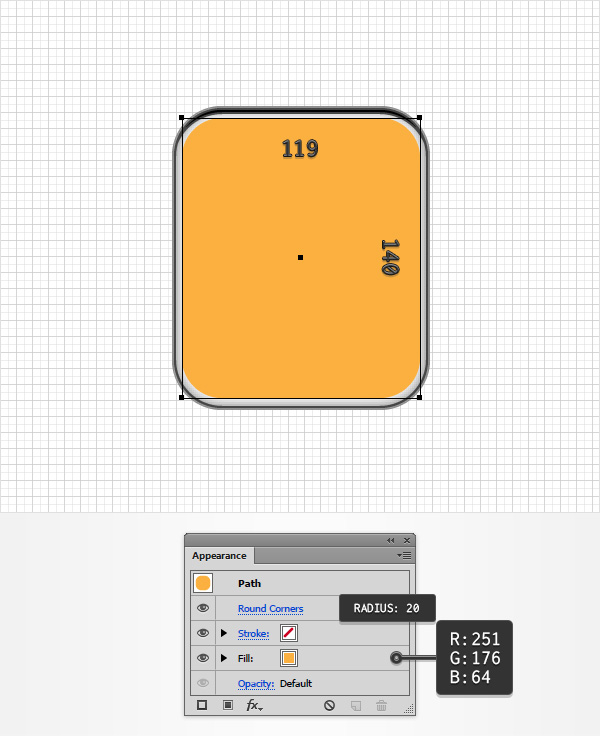 orange rounded rectangle