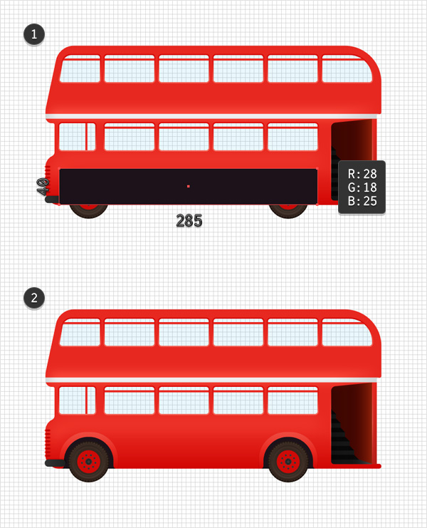 Create a Double-Decker Bus Illustration in Adobe Illustrator
