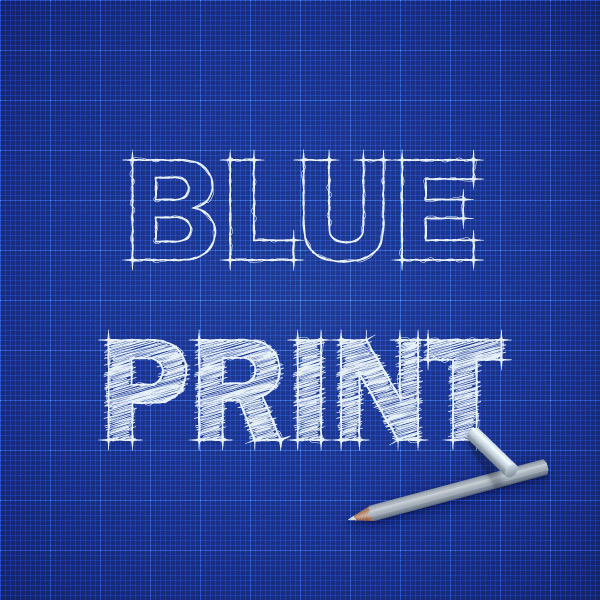 How to create a blueprint text effect in adobe illustrator final product image malvernweather Choice Image