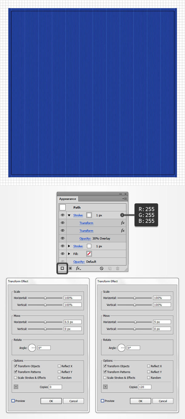 How to create a blueprint text effect in adobe illustrator step 4 malvernweather Gallery