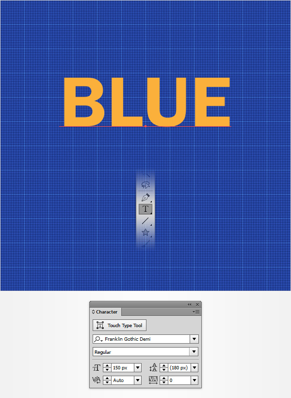 How to create a blueprint text effect in adobe illustrator pick a random color for your text and place it roughly as shown in the following image malvernweather Images