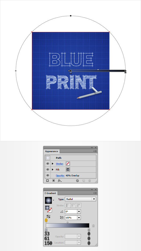 How to create a blueprint text effect in adobe illustrator radial gradient malvernweather Gallery