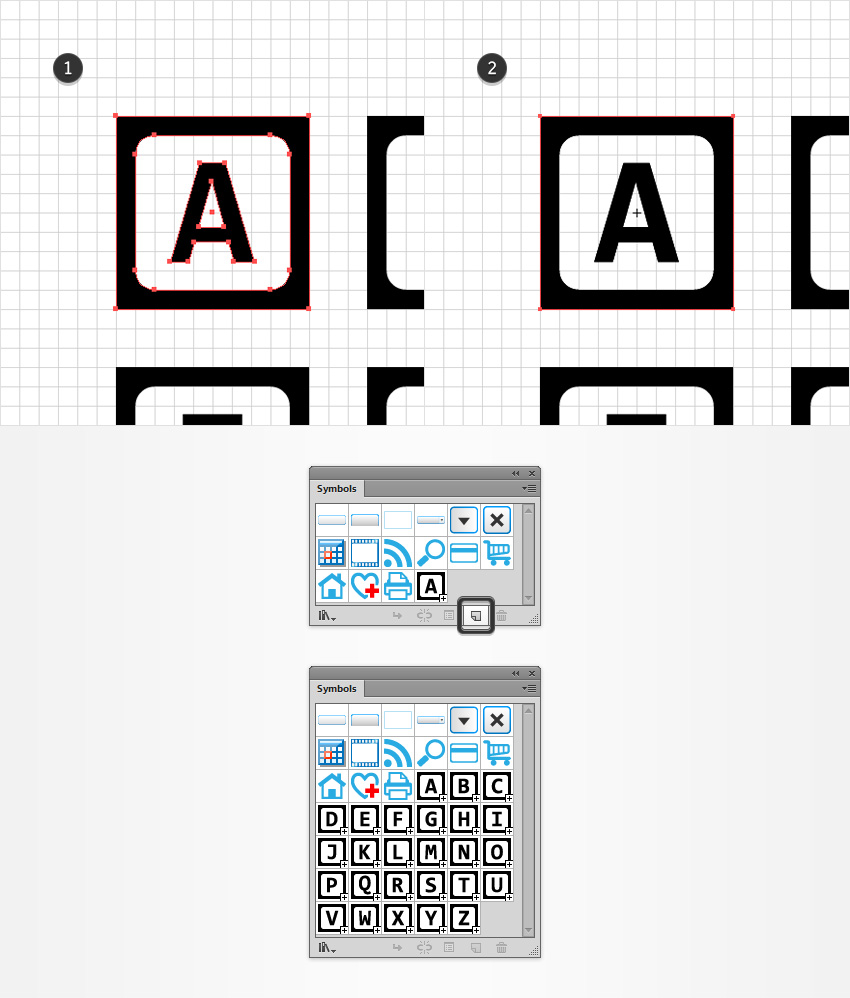 How to create an alphabet blocks text effect in adobe illustrator save symbols biocorpaavc Images