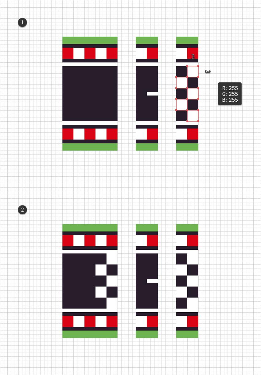 white squares