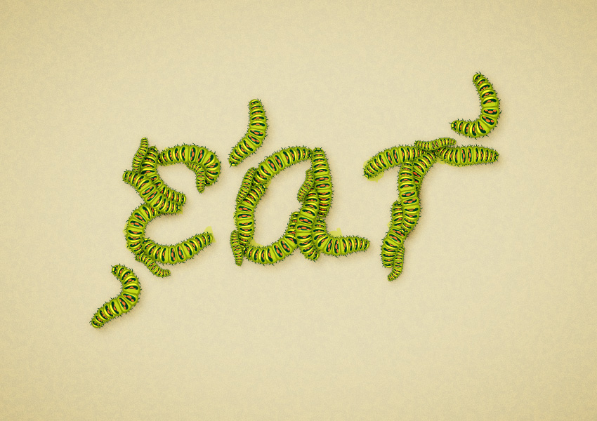 How to Create a Detailed Caterpillar Text Effect in Adobe Illustrator