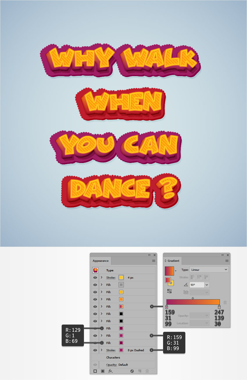 How to Create a Bold, Cartoonish Text Effect in Adobe Illustrator