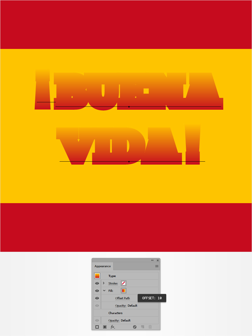 How to Create a Spain-Inspired Text Effect in Adobe Illustrator