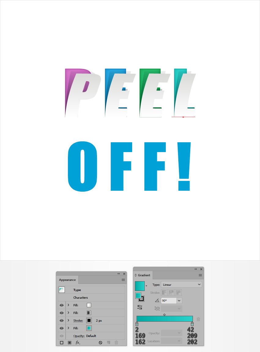 How to Create a Peeled Text Effect in Adobe Illustrator