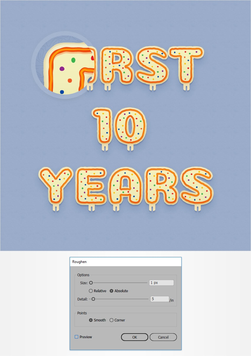 How to Create a Celebration Candles Text Effect in Adobe Illustrator