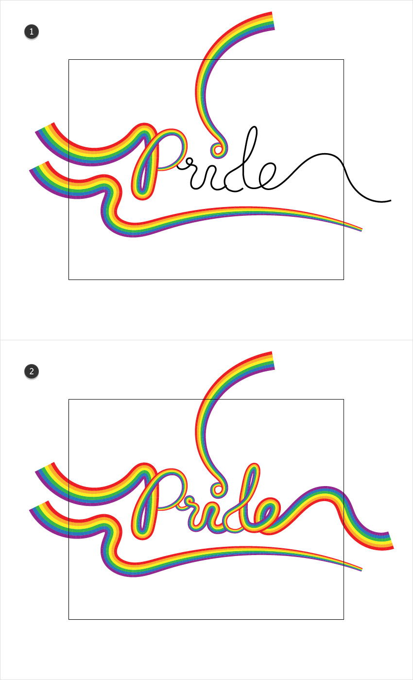 How to Create a Rainbow Text Effect in Adobe Illustrator