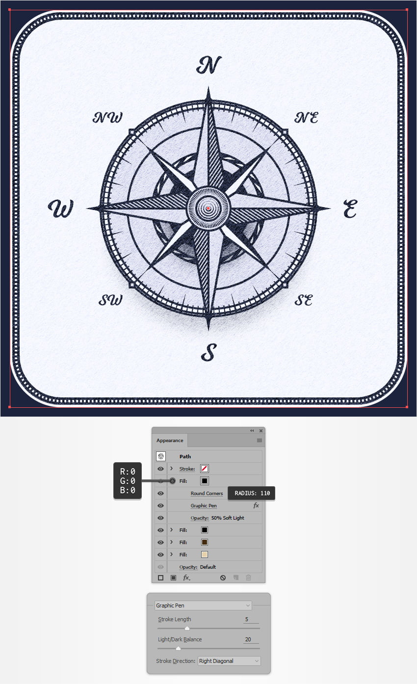 How to Create a Wind Rose Compass Symbol Illustration in Adobe Illustrator