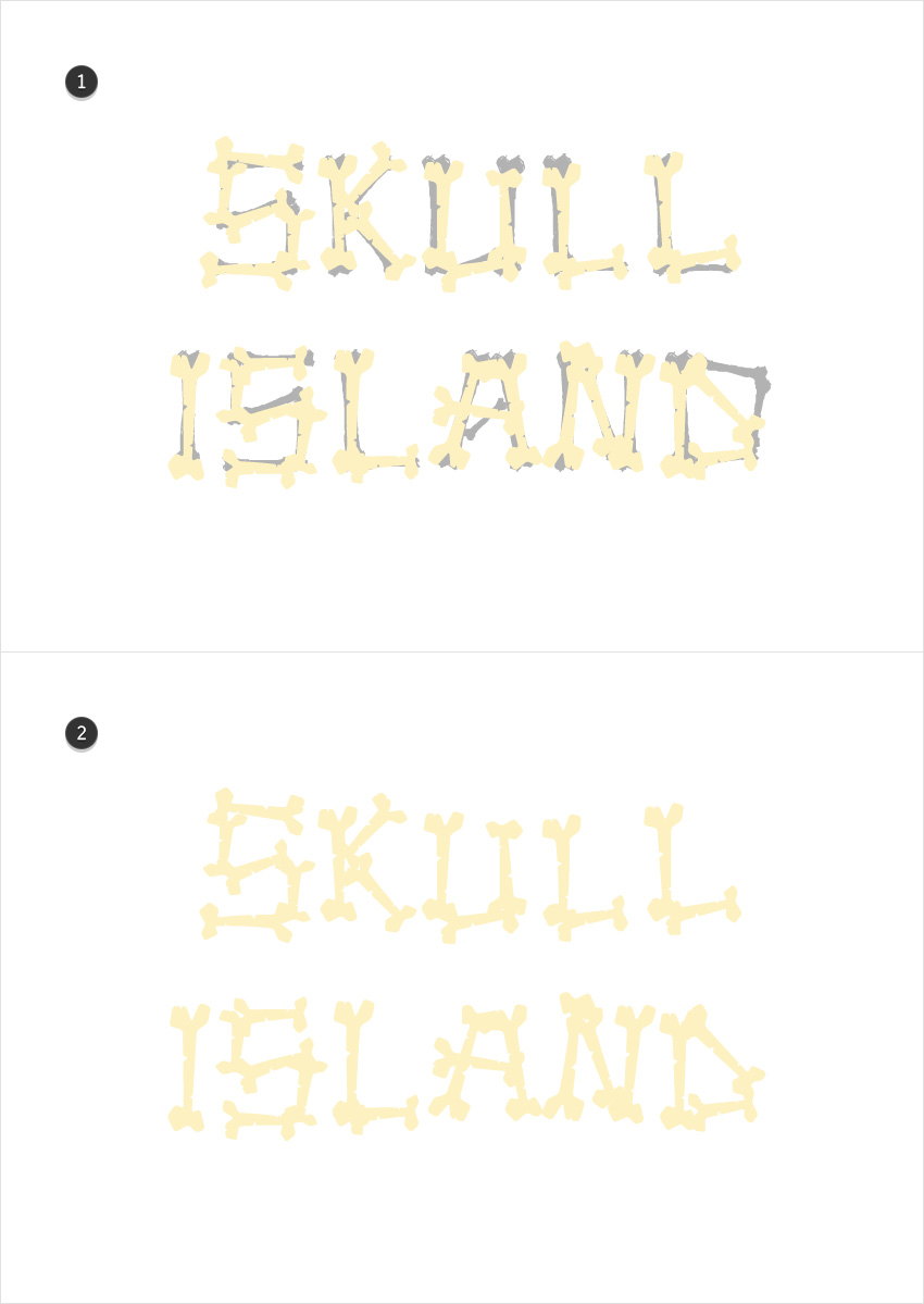 How to Create a Bones Text Effect in Adobe Illustrator