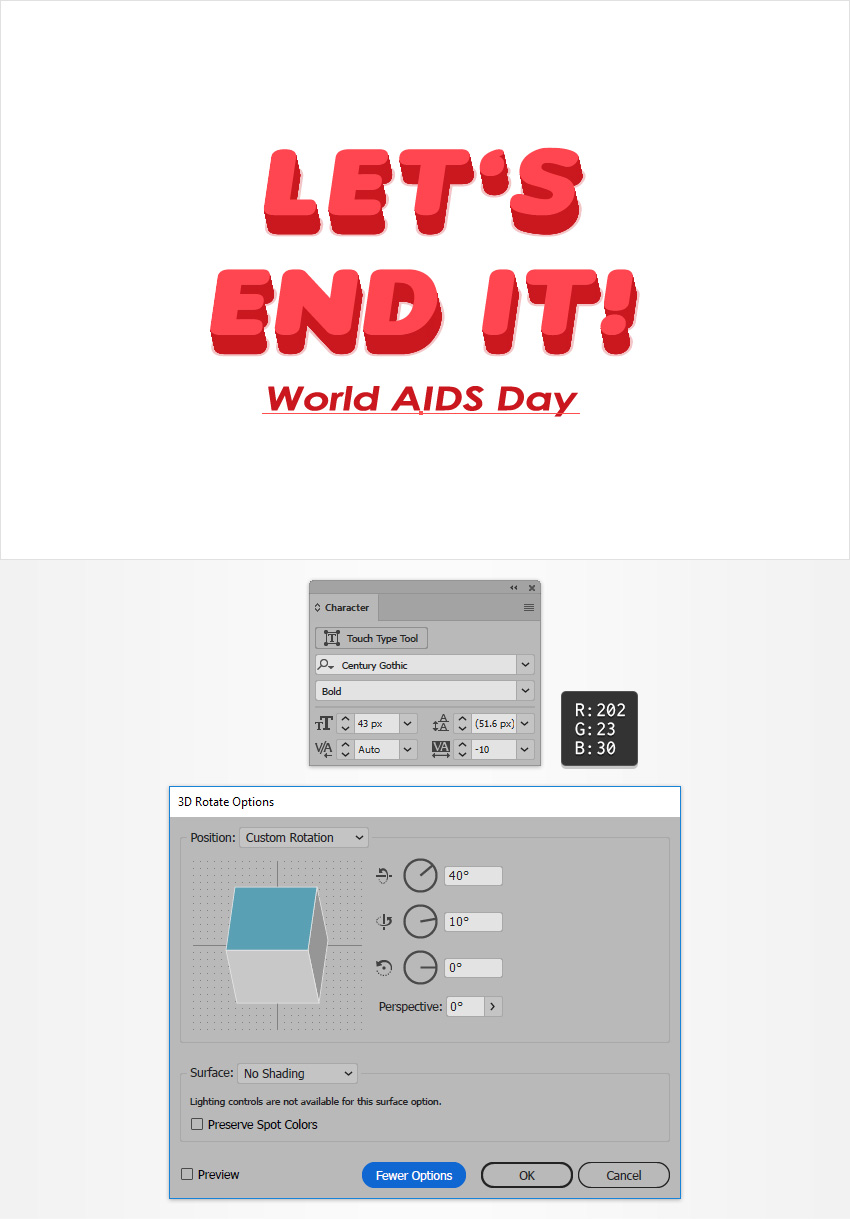 How to Create a World AIDS Day Text Effect in Adobe Illustrator