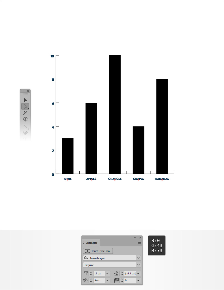 How to Create an Editable Bar Chart in Adobe Illustrator