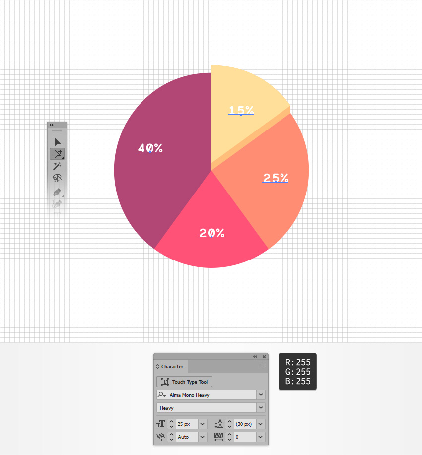 How To Create An Editable Pie Chart In Adobe Illustrator