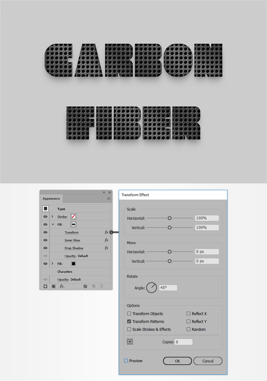 carbon fiber pattern illustrator