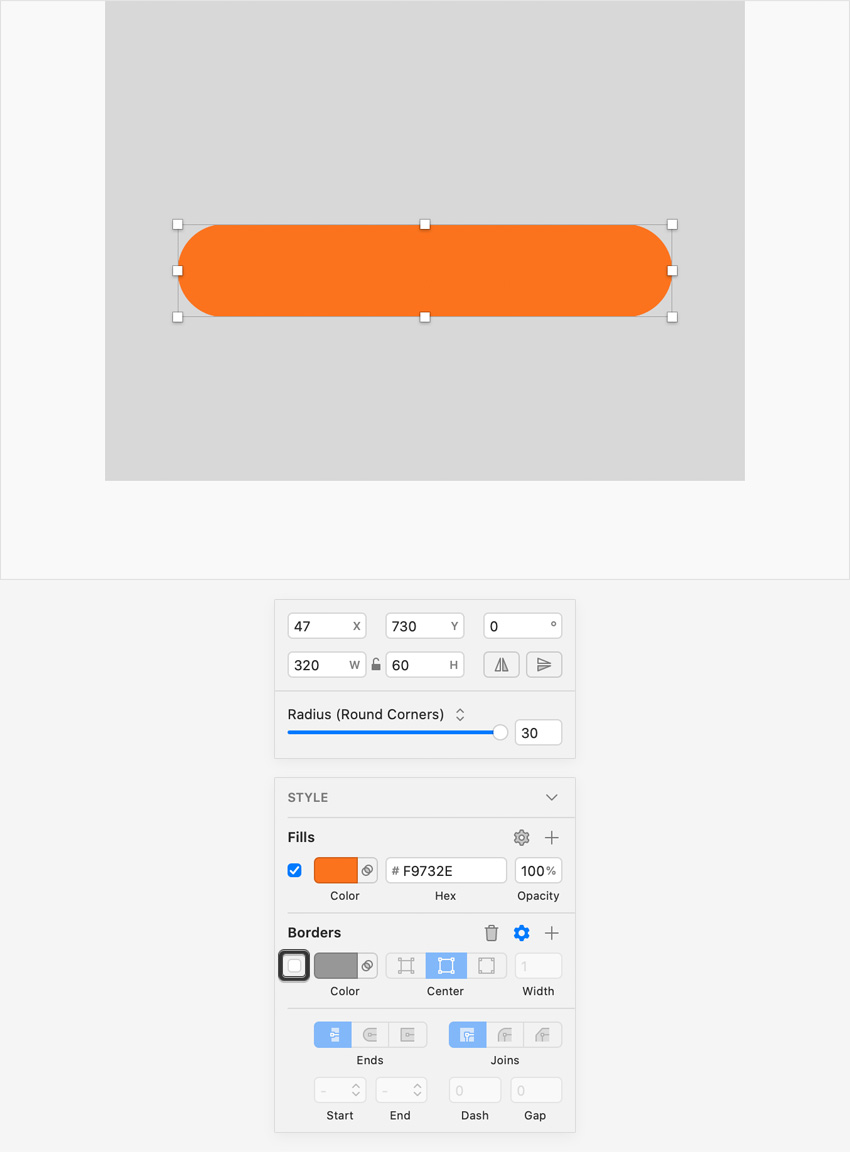 sketch UI design button