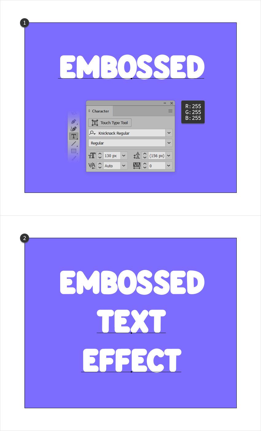 type tool text