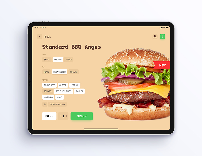 food ordering app ui