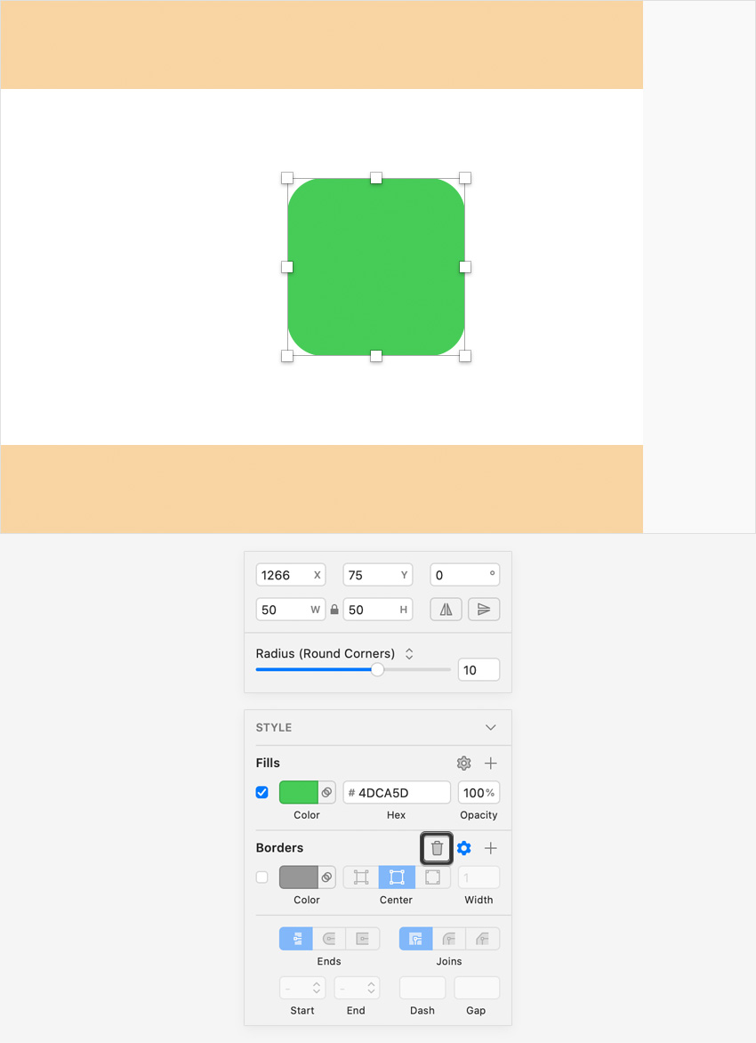 green rounded square