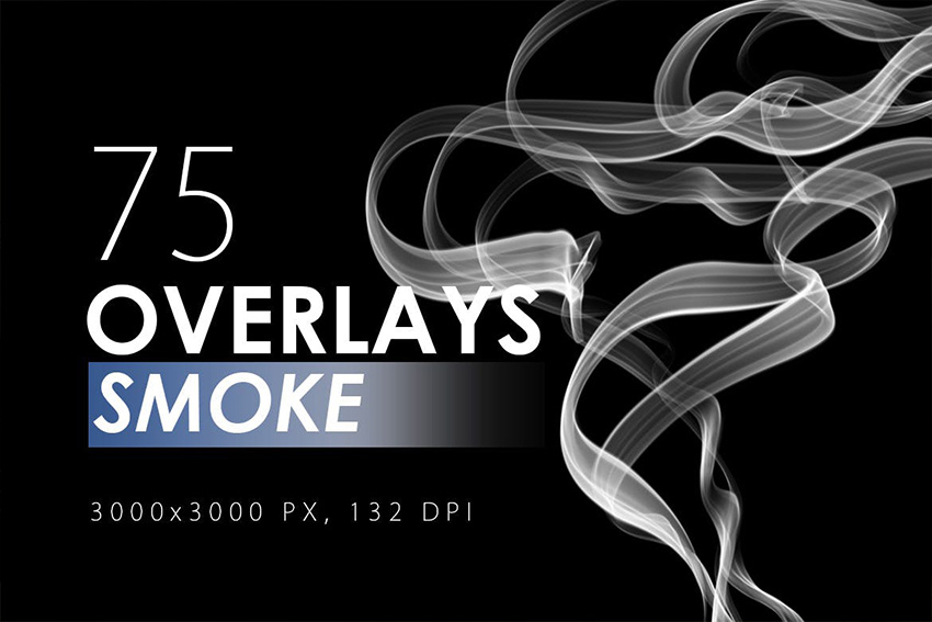 75 Photoshop  Smoke Overlay Pack