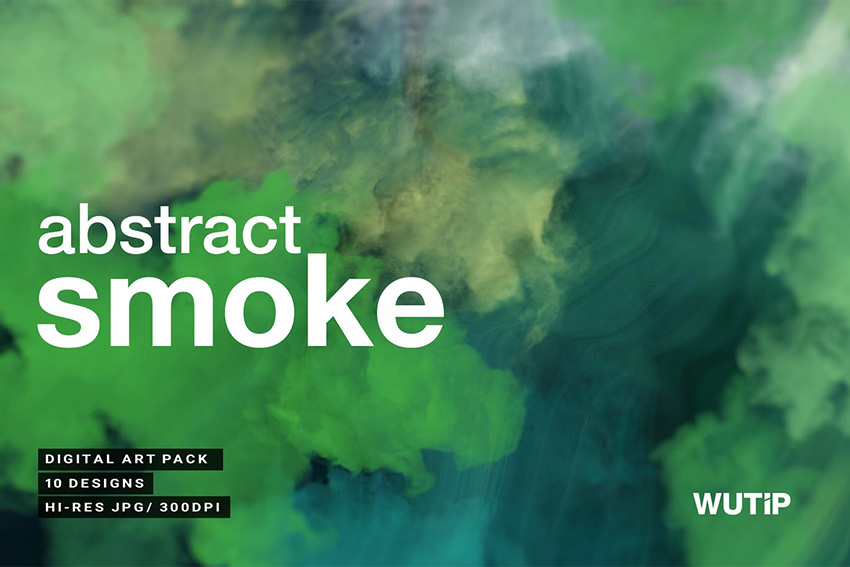 10 Abstract Photoshop Smoke Background Pack