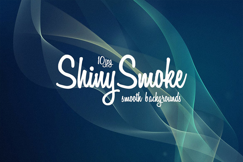 10 Shiny Flow Photoshop Smoke Background Pack
