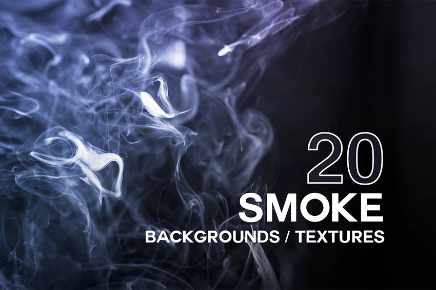 20 Photoshop Smoke Textures  Background Pack