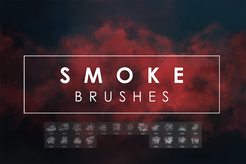 Photoshop Smoke Brush Pack
