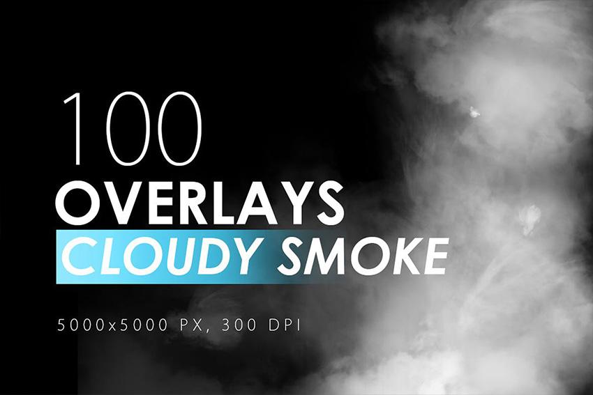 100 Cloudy Photoshop  Smoke Overlay Pack
