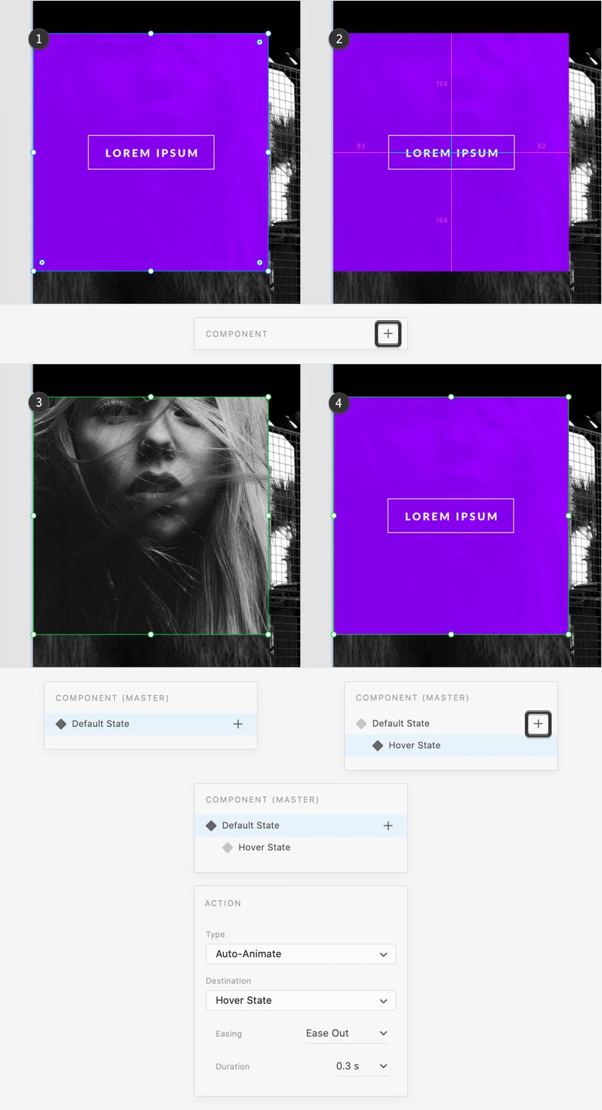 portfolio hover state prototype
