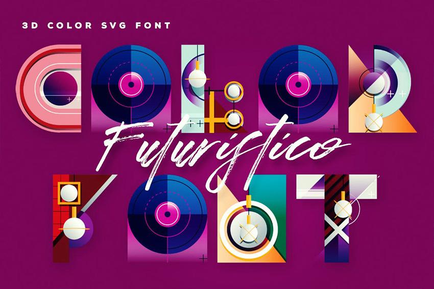 Futuristico SVG Font