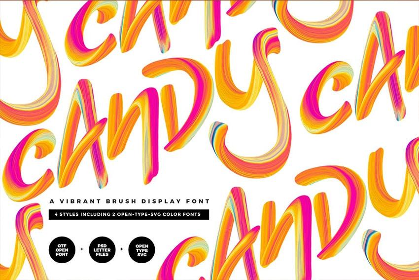 Candy SVG Font