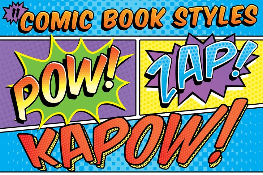 comic book adobe illustrator text effects