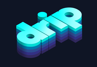 Layered isometric text in adobe illustrator 400x277