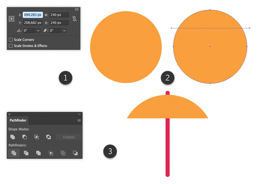 Adding a basic shape to the parasol